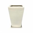 角形陶器鉢 ホワイト 7号鉢