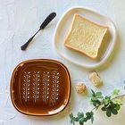 パンがサクサク!CRUSTトーストプレート(パン皿)(色をお選びください)