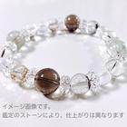 ~kaoru.stone~ 「あなたに必要」な石で作るオーダーメイドの開運ブレス 【男性用】 右手用浄化ブレスレット (メインが12mmサイズのストーン)