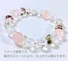 ~kaoru.stone~ 「あなたに必要」な石で作るオーダーメイドの開運ブレス 【女性用】 右手用浄化ブレスレット (メインが8mmサイズのストーン)