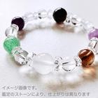 ~kaoru.stone~ 「あなたに必要」な石で作るオーダーメイドの開運ブレス 【女性用】 右手用浄化ブレスレット (メインが12mmサイズのストーン)