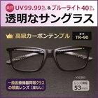 目の健康と美容対策「透明なサングラス」/YX0283