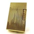<送料無料・即日発送>【C56】ブランド・保証カード付 Chequered /チェカード フリントガスライター ゴールド/金 横回しフリント式 高級感のあるライン 火力調整ネジ有 充填式