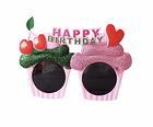 (送料無料)HAPPY BIRTHDAY サングラス チェリー ハート メガネ お誕生日 大人用 子供用 キッズ 兼用 パーティーグッズ