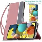 Samsung Galaxy A51 白羽シリーズ 手帳型ケース(強化ガラスフィルム付き)