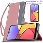 Samsung Galaxy A21 白羽シリーズ 手帳型ケース(強化ガラスフィルム付き)