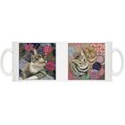 【送料無料】『日本画×花ネコ×寒椿ネコ』 マグカップ