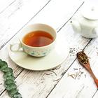 中川真理子作九谷焼ティーカップ&ソーサーと加賀の棒茶のギフトセット
