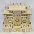 【送料無料】東濃桧製神棚 日本製 屋根違い三社神棚 特小