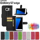 【送料無料】GALAXY s7 edge シンプルレザー手帳型ケース 選べる9カラー