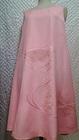 【送料無料】ふんわり春色正絹(絹100%)扇刺繍ピンク ワンピース