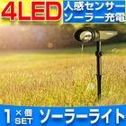 【送料無料】5個セット ソーラー LEDライト アウトドアー スポットライト 省エネ 屋外用 充電式 防水加工 バルブ 車道 庭 芝生 ガーデン ウォームホワイト