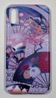 iphoneX用スマホカバー 扇と菊