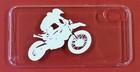 iphoneX用スマホカバー シルエットバイク