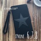 ★SALE★【送料無料】ワンスター★*iPhone6.7.8ケース*ブラック*C230