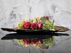 【送料無料】お手入れ不要の流木アートフラワー sweet rose スウィートローズ【流木とアートフラワーのアレンジ】