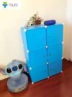 最新型組み立て式収納ボックス 3段2列収納チェスト 収納家具 ブルー