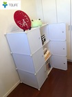 【送料無料】最新型組み立て式収納ボックス 3段2列収納クローゼット+収納ボックス 収納家具 ホワイト