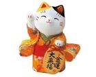 【送料無料】薬師窯 錦彩ちりめん小判招き猫