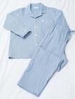 リフランス 【プラウシオン(R)3重ガーゼ】 メンズ パジャマ<シャツ:長袖/パンツ:フルレングス>