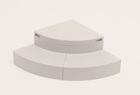 ハウスステップ Rタイプ収納庫なし CUB-R60【お庭との段差を解消する多機能ステップ】