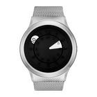 【送料無料】ZEROO クォーツ腕時計 ファッションウォッチ ユニセックス AQUA DROP WHITE Sliver-Silver