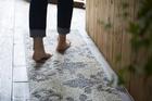 リネン×コットン キッチンマット 45cm×180cm 【ナチュラルオーナメント】 洗える 日本製 滑り止め