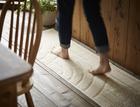 キッチンマット 45cm×180cm 【コットン リッジ】 日本製 洗える 滑り止め