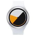 【送料無料】ZEROO COLORED TIME ゼロ 電池式クォーツ 腕時計 [W00101B01SR01] ホワイト デザインウォッチ ペア用 メンズ レディース ユニセックス おしゃれ時計 デザイナーズ