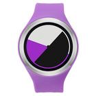 【送料無料】ZEROO COLORED TIME ゼロ 電池式クォーツ 腕時計 [W00105B01SR08] パープル デザインウォッチ ペア用 メンズ レディース ユニセックス おしゃれ時計 デザイナーズ