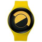 【送料無料】ZEROO QUARTER MOON ゼロ 電池式クォーツ 腕時計 [W01004B03SR09] イエロー デザインウォッチ ペア用 メンズ レディース ユニセックス おしゃれ時計 デザイナーズ