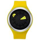 【送料無料】ZEROO AQUA DROP ゼロ 電池式クォーツ 腕時計 [W01203B01SR09] イエロー デザインウォッチ ペア用 メンズ レディース ユニセックス おしゃれ時計 デザイナーズ