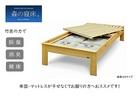【送料無料】「森の寝床」炭入り健康ベッド ヒノキ ヘッドレス セミダブルサイズ 床高さ40cm