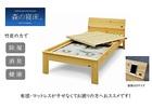 【送料無料】「森の寝床」炭入り健康ベッド ヒノキ ヘッドフラット セミダブルサイズ 床高さ40cm
