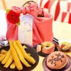 【送料無料】母の日2020 ギフト 和菓子 籠バッグ スイーツセット【ピンク風呂敷】 [MD]