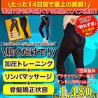 【リンパマッサージセルライトスパッツ】楽天ランキング1位獲得♪14日間短期集中ダイエットスパッツ!!