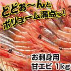 送料無料・甘海老(お刺身用) 1kgセット