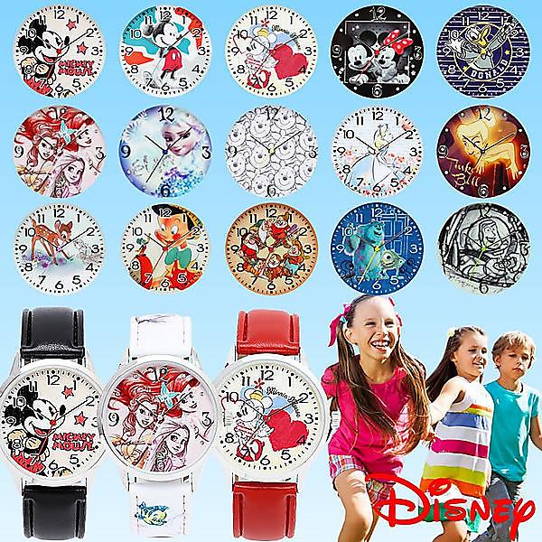 【ポイント交換モール】ディズニーの人気キャラ15種類! ディズニーウォッチ ミッキー ミニー Disney 腕時計 【01.ミッキーマウス-ブラック】