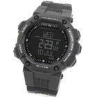 【ポイント交換モール】 GPSを搭載した究極のアウトドアウォッチ! 高度計、デジタルコンパスを備え、ルートナビゲーションが可能な腕時計 心拍ベルト付き LAD WEATHER ラドウェザー カラー:ブラック×反転液晶