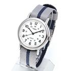 TIMEX タイメックス 腕時計 TW2P72300 WEEKENDER REVERSIBLE/ウィークエンダー リバーシブル ミリタリーウォッチ メンズ レディース 時計 アナログ カジュアル ネイビー グレー ホワイト ストライプ インディグロナイトライト搭載