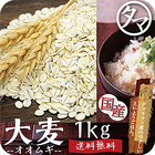 【送料無料】九州産 大麦(押し麦) 1kg 食べる食物繊維の宝庫な食材。 注目される第6の栄養素とされる食物繊維を豊富に含んだ食材。 炊飯や料理にお使い頂けます。 【βグルカン】【押麦】