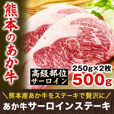 | 【送料無料】熊本県産 あか牛 高級部位サーロインステーキ ボリューム満点の250g×2枚《3-14営業日以内に順次出荷(土日祝日除く)》【W】