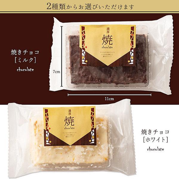【タイムセール★11%OFF!!】溶けないチョコレート 焼きチョコ ブラウニー [ 2種類から1種が選べる  ミルク/ホワイト ]【送料無料】