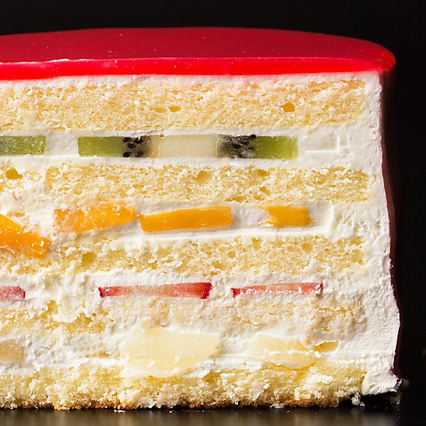【送料無料】 ハートの可愛すぎる 萌え断ケーキ フルーツケーキ 西内花月堂 萌えるほどに可愛い断面のケーキ かわいい 〔 誕生日 バースデーケーキ 誕生日ケーキ お祝い お礼 お返し お菓子 ケーキ 〕冷凍便配送 【ケーキ】