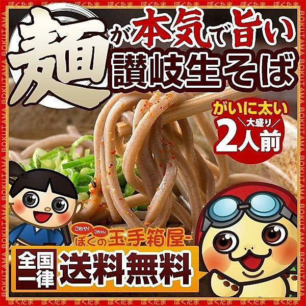そば 蕎麦 麺が本気で旨い 讃岐 生そば お試し300g (大盛り2人前)  送料無料 (セット パック)