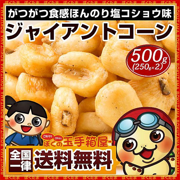 【送料無料】ジャイアントコーン 塩コショウ味 500g (250g×2) トウモロコシ