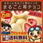 チョコレート 苺 イチゴまるごと チョコレート 6個入りフリーズドライ 苺 ホワイトチョコ いちご スイーツ お菓子 送料無料