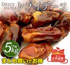 ドライデーツ 5kg(1kg×5) なつめやし ドライフルーツ ナツメヤシ