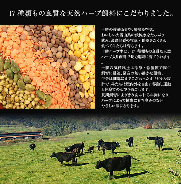 北海道「十勝ハーブ牛」サーロインステーキ(150g×2枚)