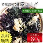 送料無料 海藻サラダ(乾燥タイプ)60g/メール便/ 無添加食品 / 低カロリー 自然食品 ミネラル 海藻サラダ